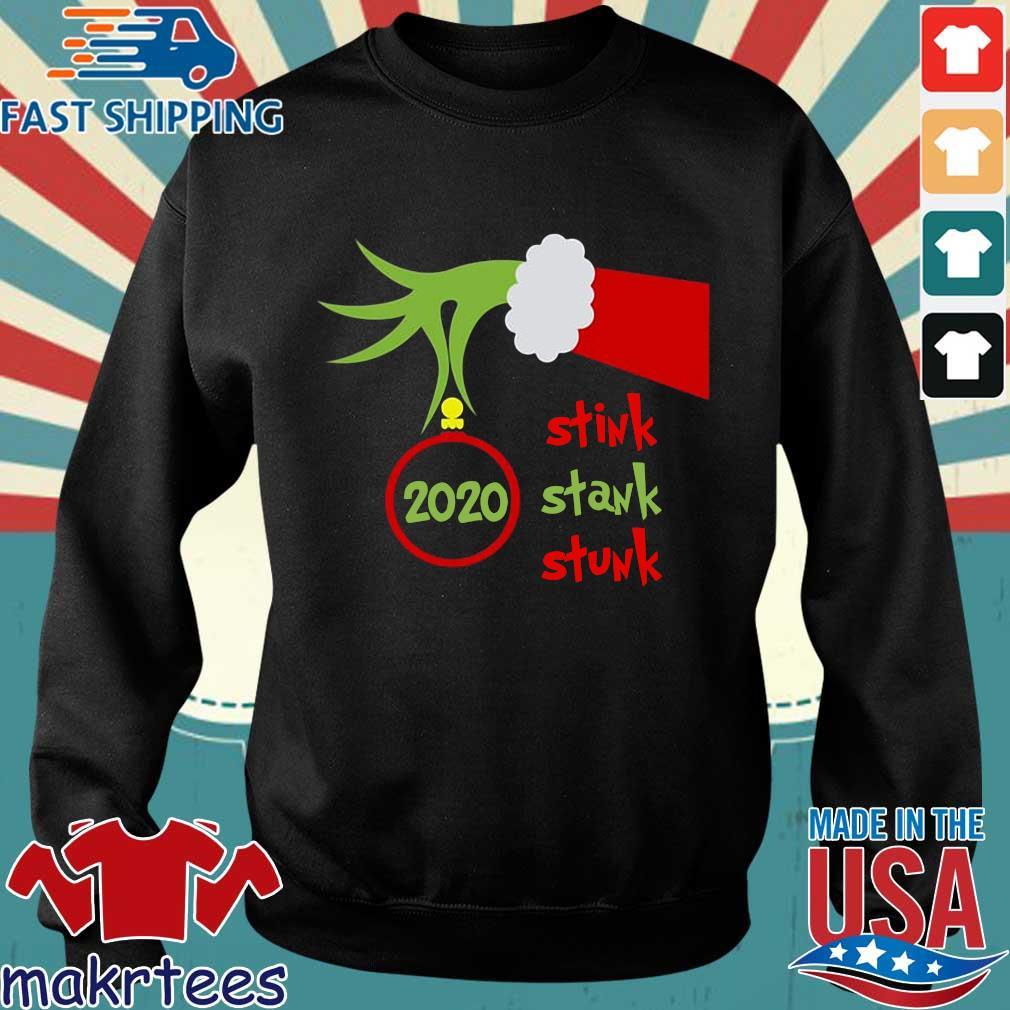 Hand Grinch stink stank stunk 2020 Christmas sweater