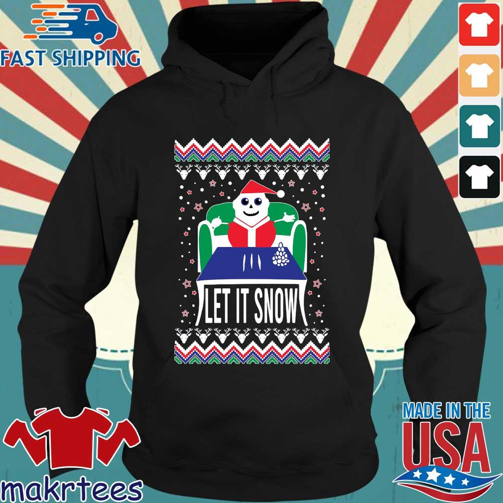 Let it snow Ugly Christmas sweater Hoodie den