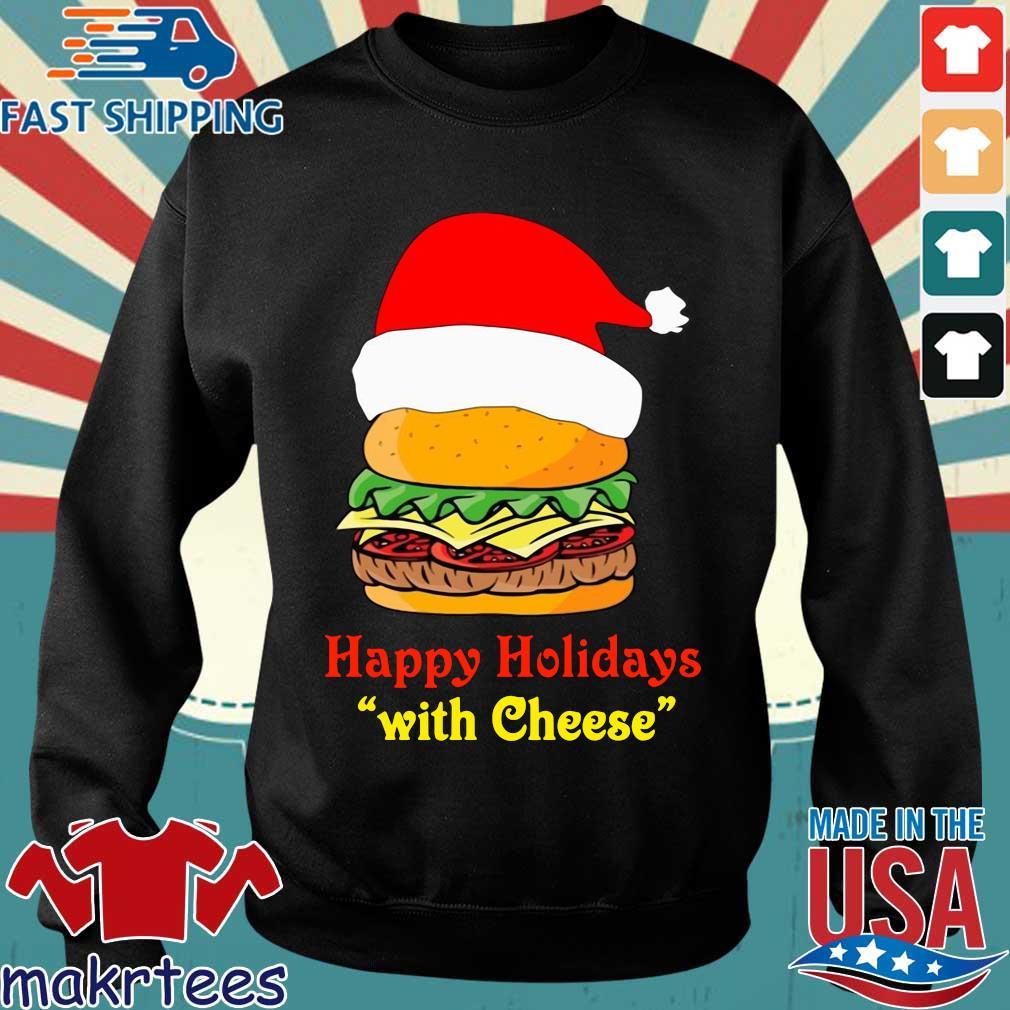 Santa Hamburger happy Holidays with cheese shirt