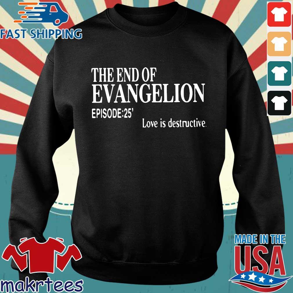 The end of evangelion love is destructive episode 25 shirt
