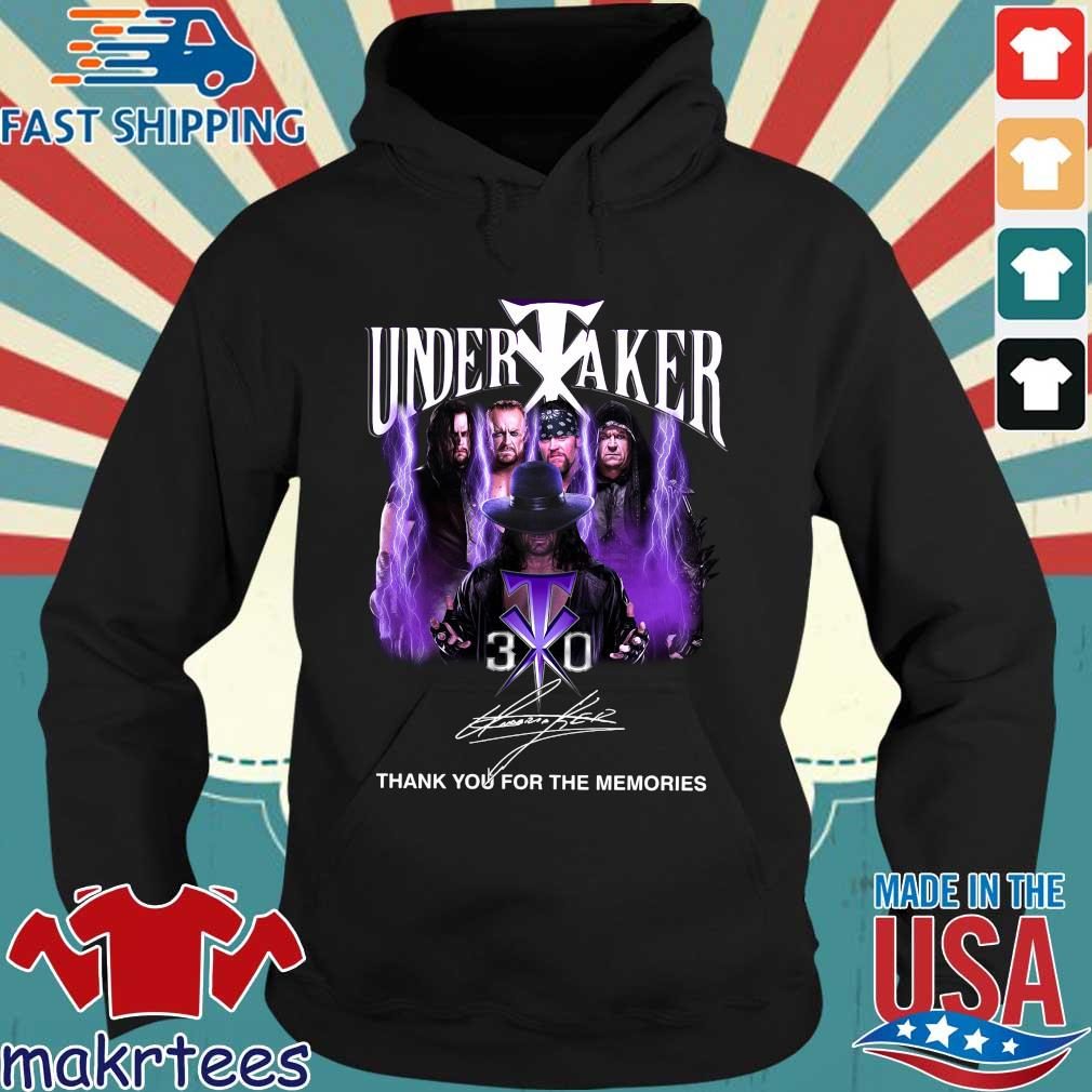Undertaker 30th signature thank you for the memories tee s Hoodie den
