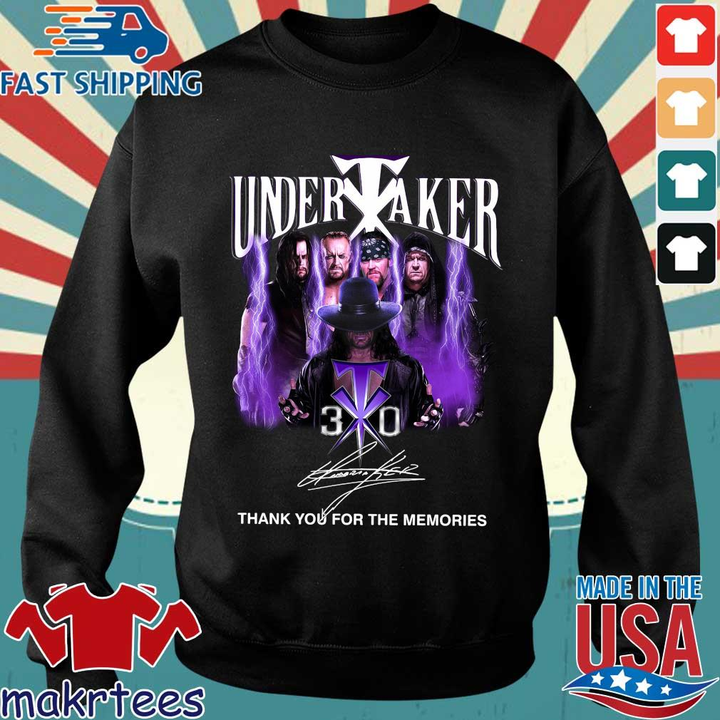 Undertaker 30th signature thank you for the memories tee shirt