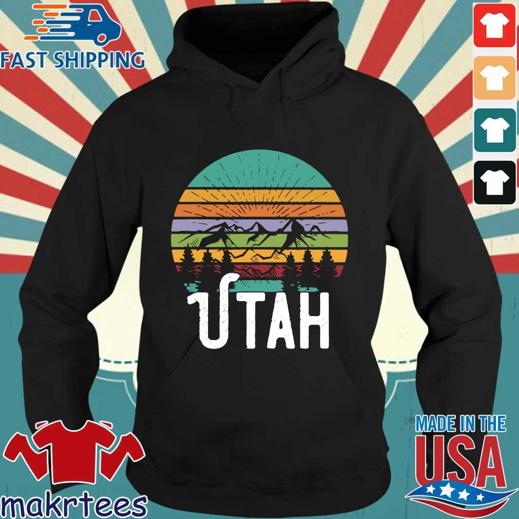 Utah With Mountains At Sunset Vintage s Hoodie den