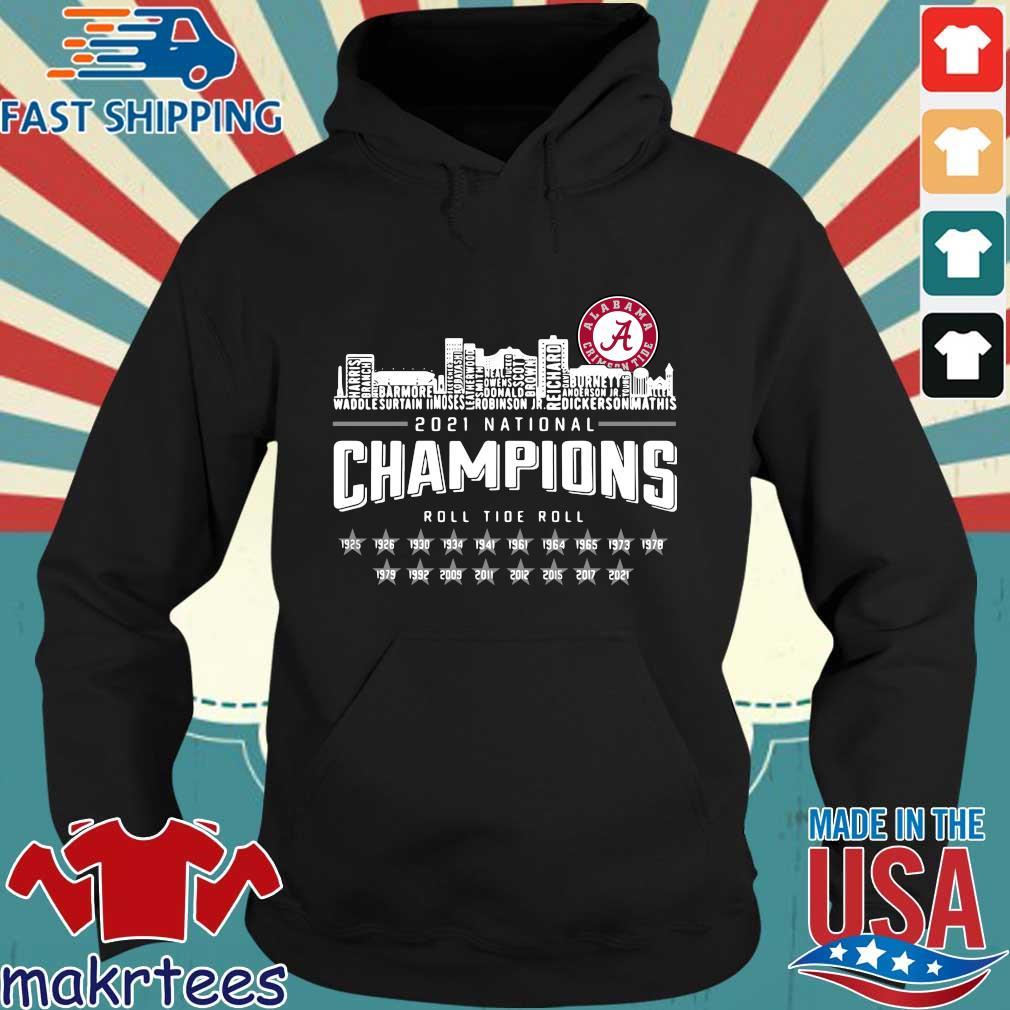 Alabama Crimson Tide 2021 national Champions roll Tide roll 1935-2021 s Hoodie den