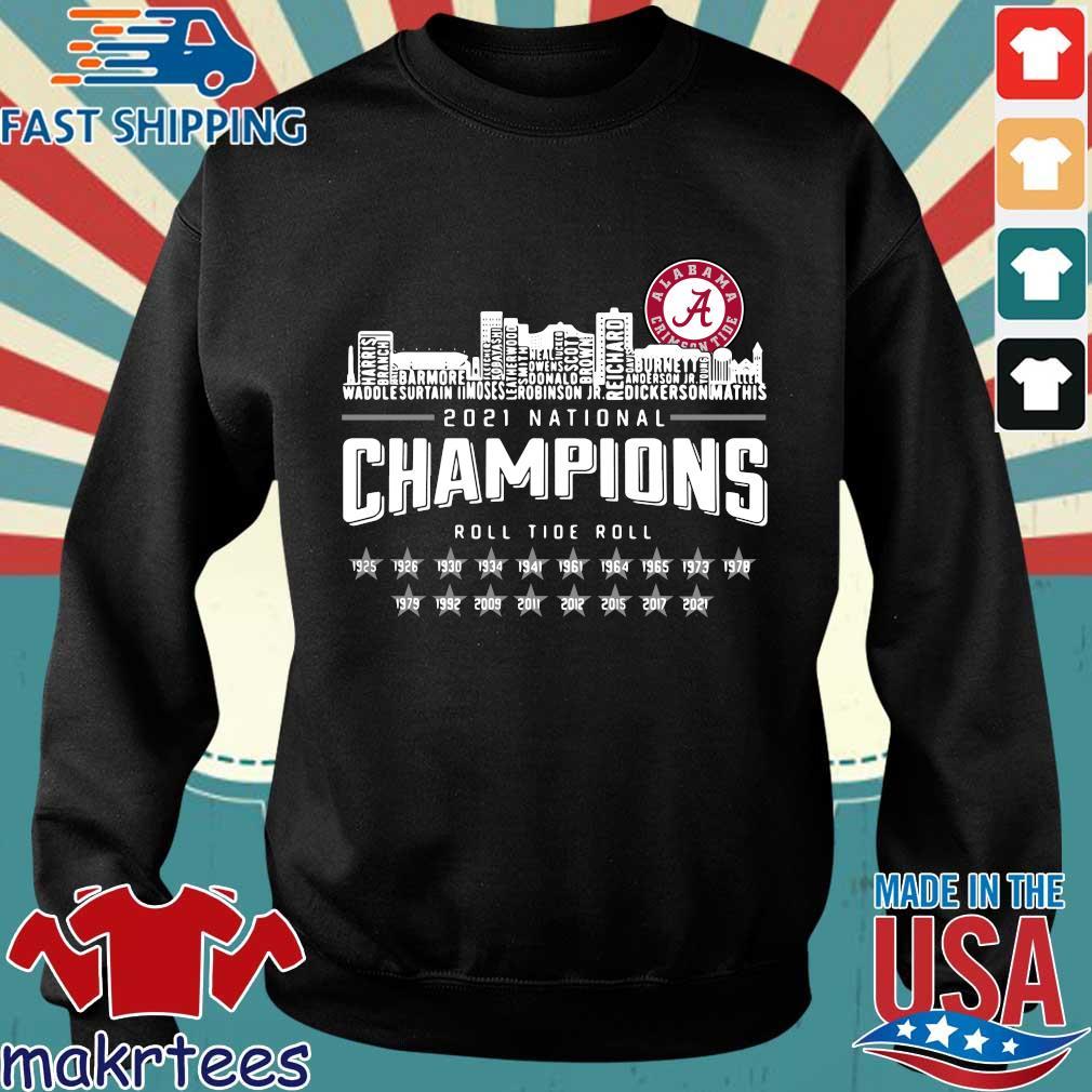 Alabama Crimson Tide 2021 national Champions roll Tide roll 1935-2021 shirt