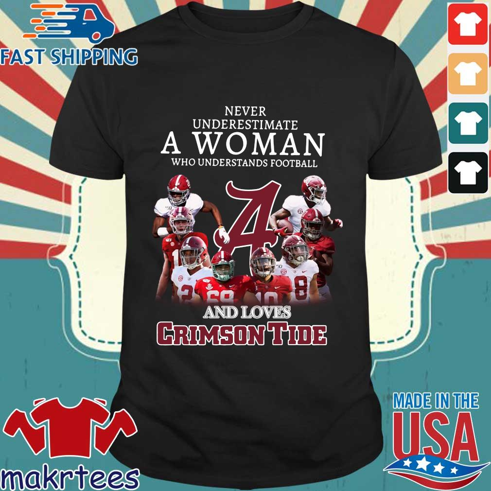 Alabama Crimson Tide Never Underestimate A Woman Who Understands Football And Loves Shirt