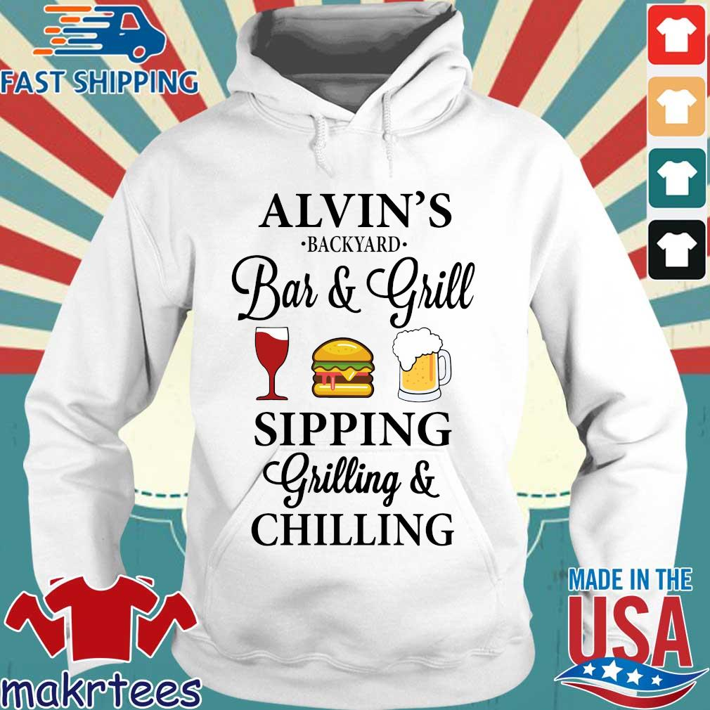 Alvin's backyard bar and grill sipping grilling and chilling s Hoodie trang