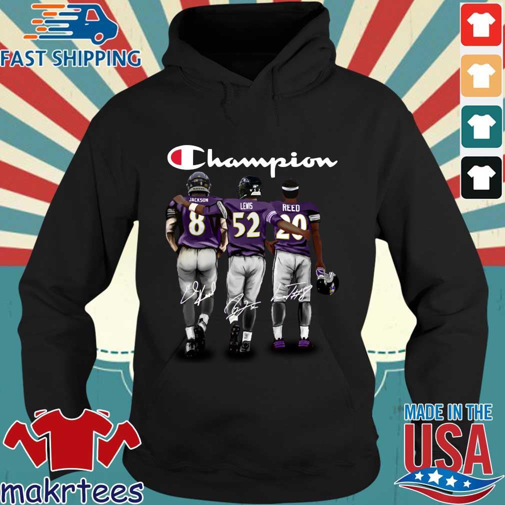 Baltimore Ravens Champion Jackson Lewis Reed signatures s Hoodie den