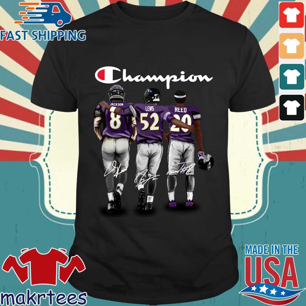 Baltimore Ravens Champion Jackson Lewis Reed signatures shirt