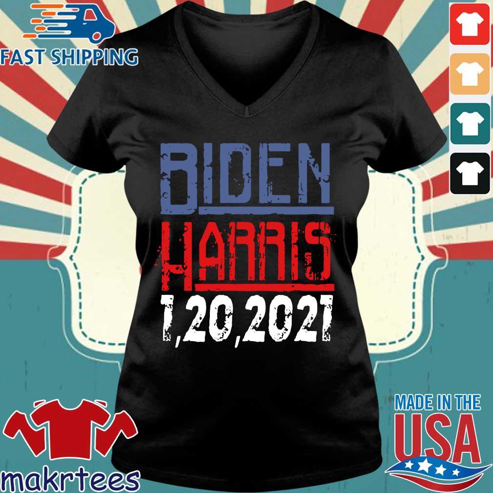 Biden Harris 1 20 2021 s Ladies V-neck den