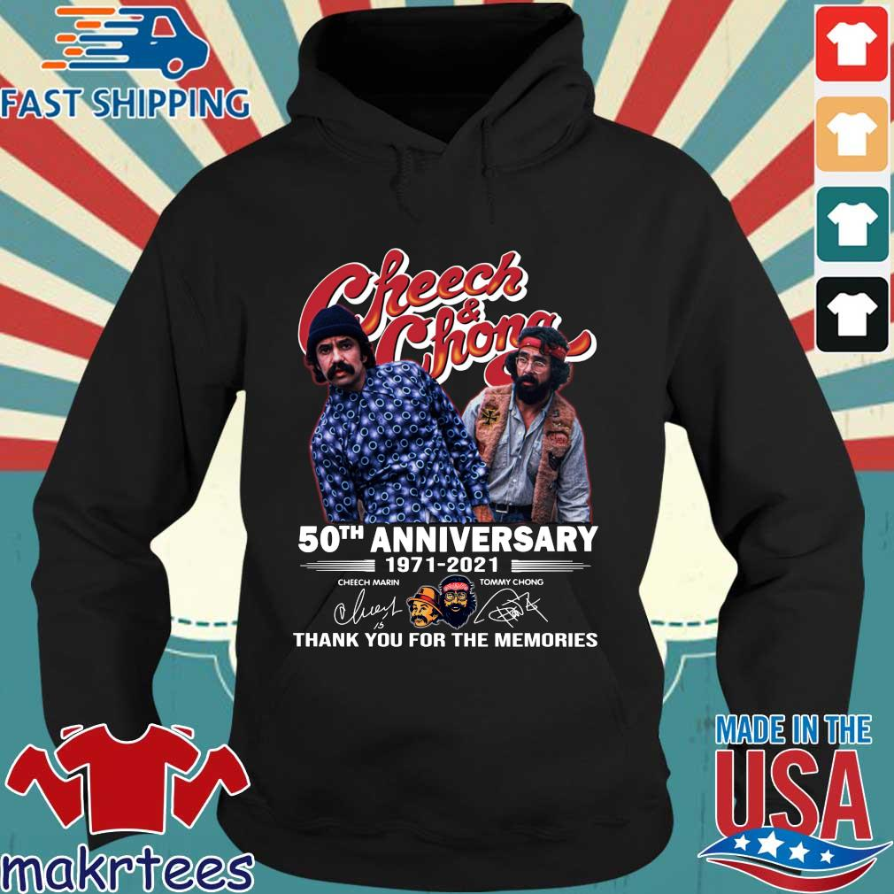 Cheech And Chong 50th anniversary 1971-2021 thank you for the memories signatures s Hoodie den
