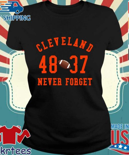 Cleveland Browns 48 37 never forget s Ladies den