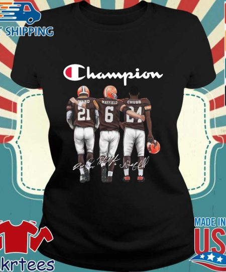 Cleveland Browns Champion Mayfield Chubb signatures s Ladies den