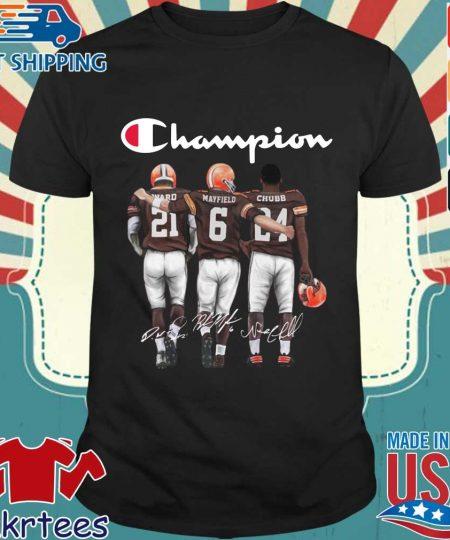Cleveland Browns Champion Mayfield Chubb signatures s Shirt den