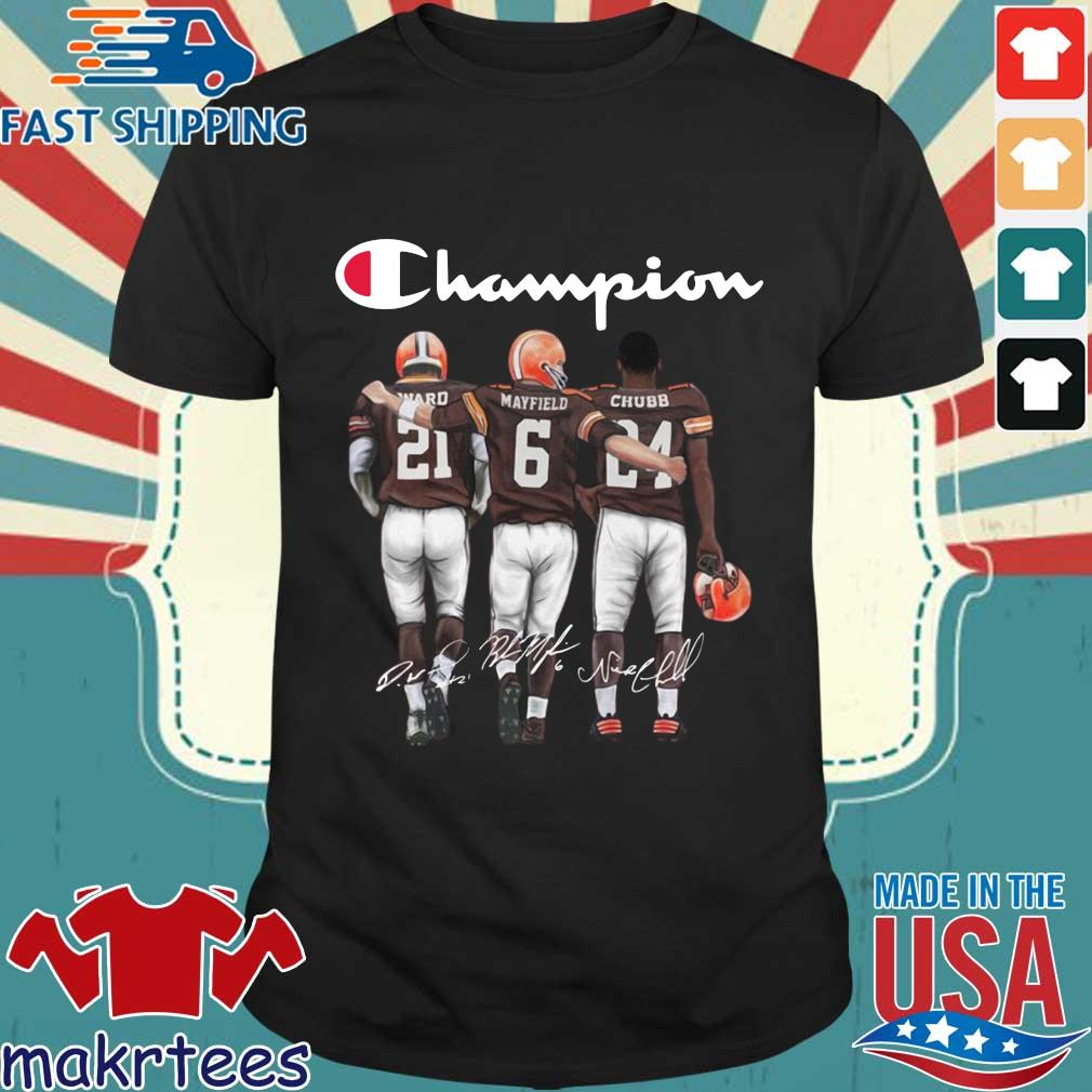 Cleveland Browns Champion Mayfield Chubb signatures s Shirt den