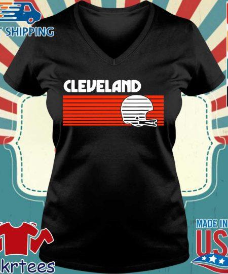 Cleveland Browns Vintage Retro Shirt Ladies V-neck den