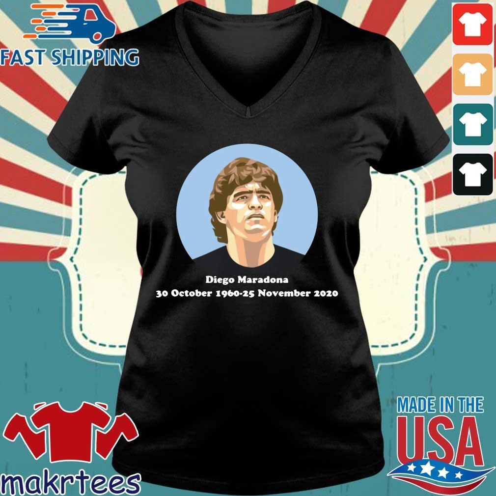 Diego Maradona 30 october 1960-25 november 2020 s Ladies V-neck den