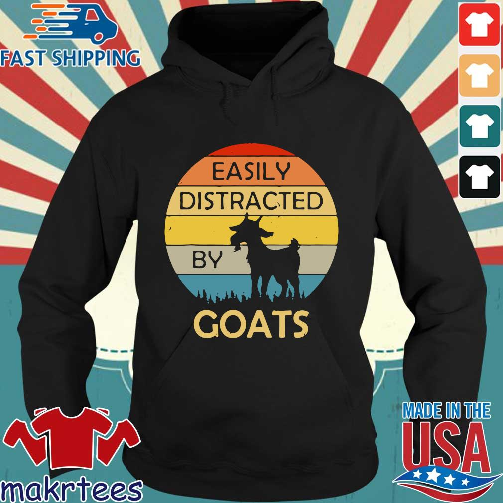 Easily distracted by goats vintage sunset s Hoodie den