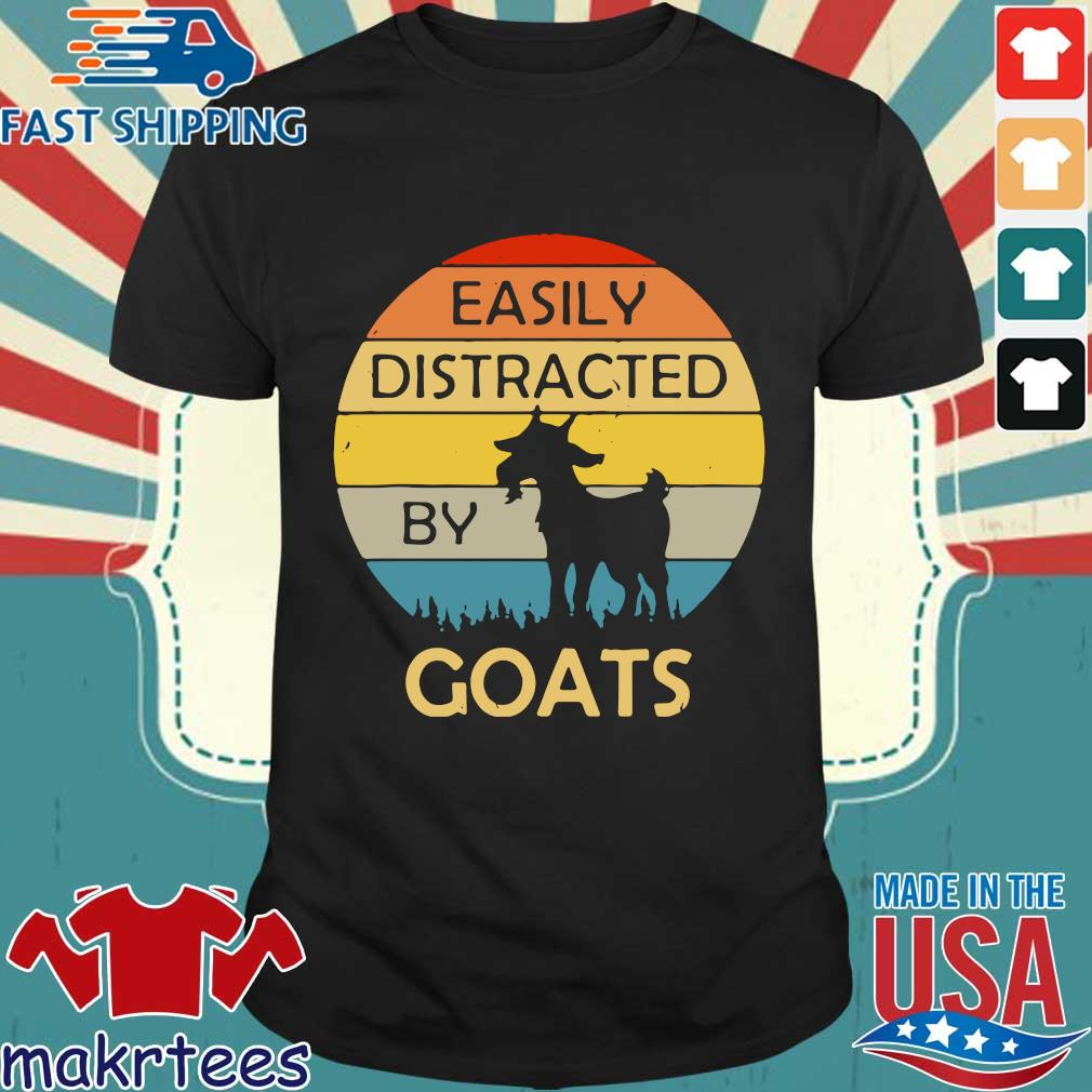 Easily distracted by goats vintage sunset shirt