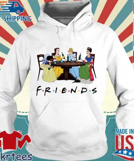 Frida Kahlo and Disney princesses drinking Friends TV show s Hoodie trang
