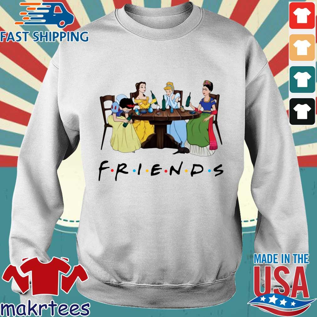 Frida Kahlo and Disney princesses drinking Friends TV show shirt