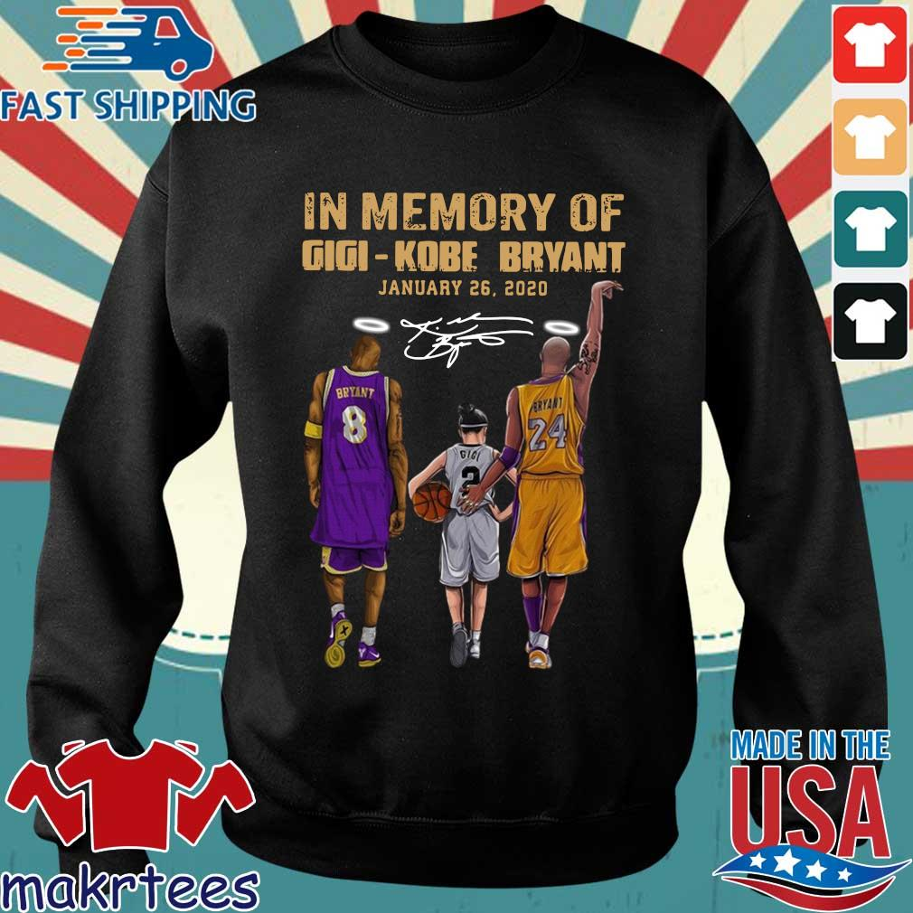 In memory of gigi Kobe Bryant january 26-2020 signature shirt