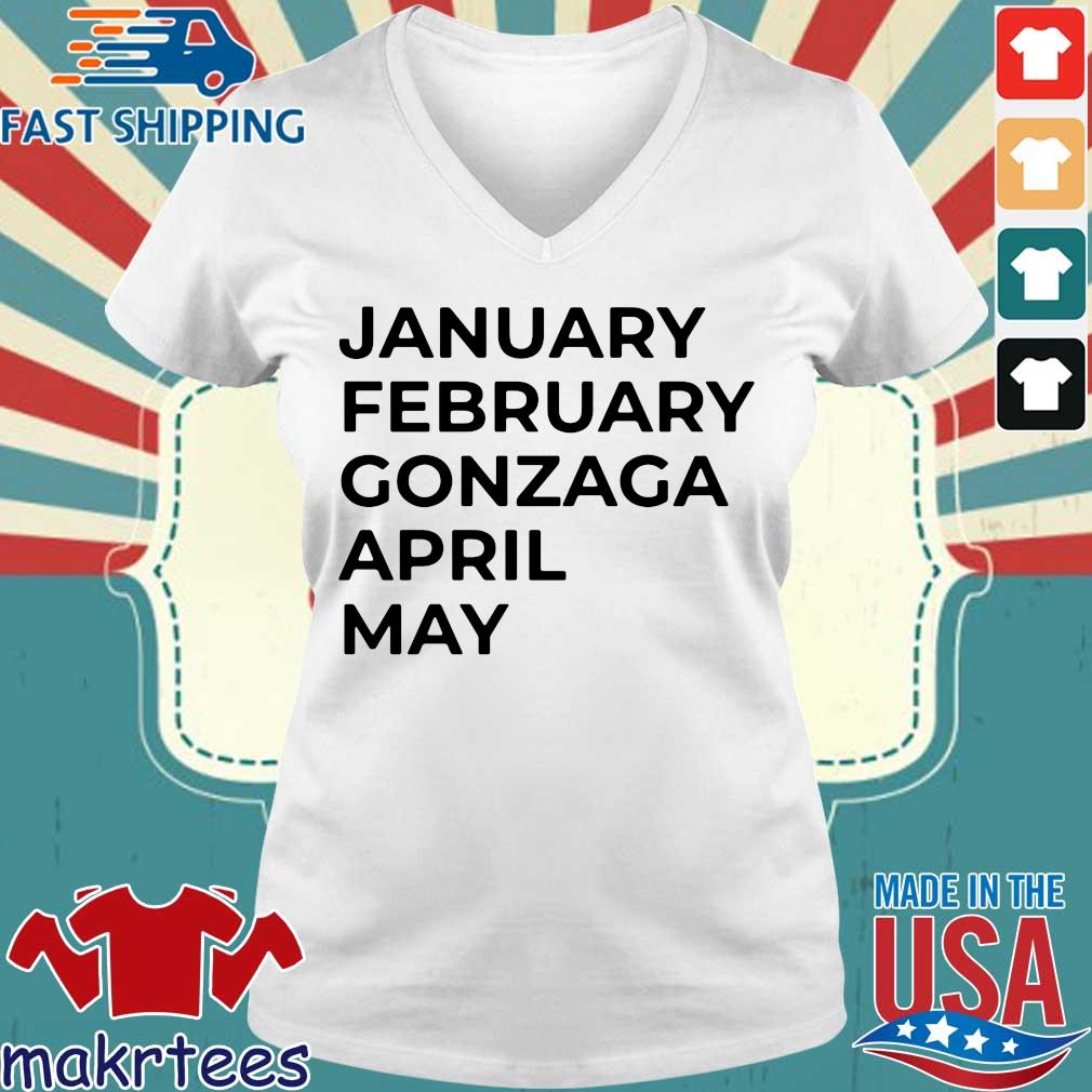 January february gonzaga april may s Ladies V-neck trang