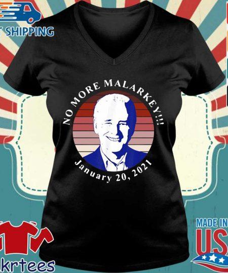 Joe Biden no more malarkey january 20 2021 retro s Ladies V-neck den