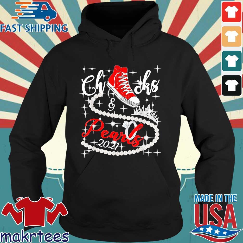 Kamala Harris Chucks and Pearls 2021 red converse hoodie, s Hoodie den