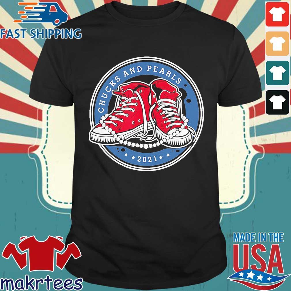Kamala Harris Chucks and Pearls 2021 snacker converse t-shirt