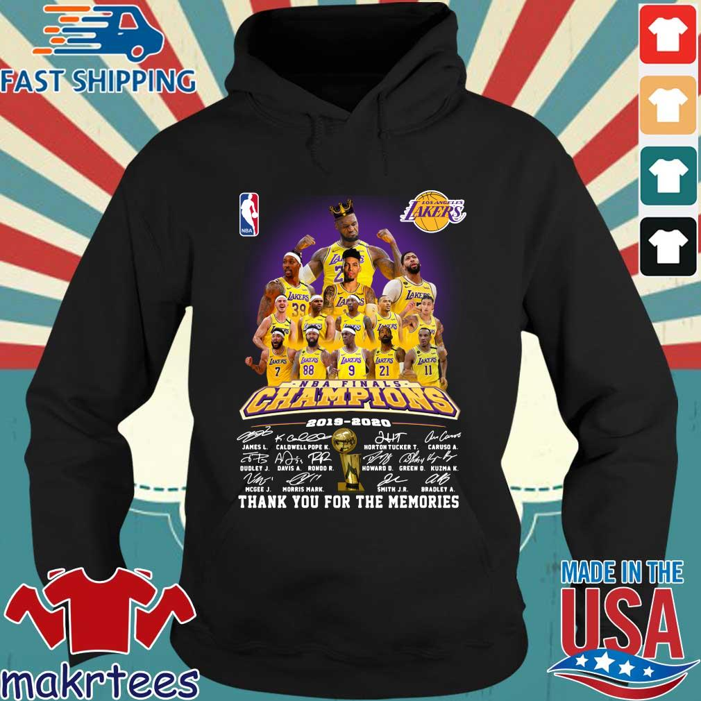 Los Angeles Lakers NBA Champions 2019-2020 thank you for the memories signatures s Hoodie den