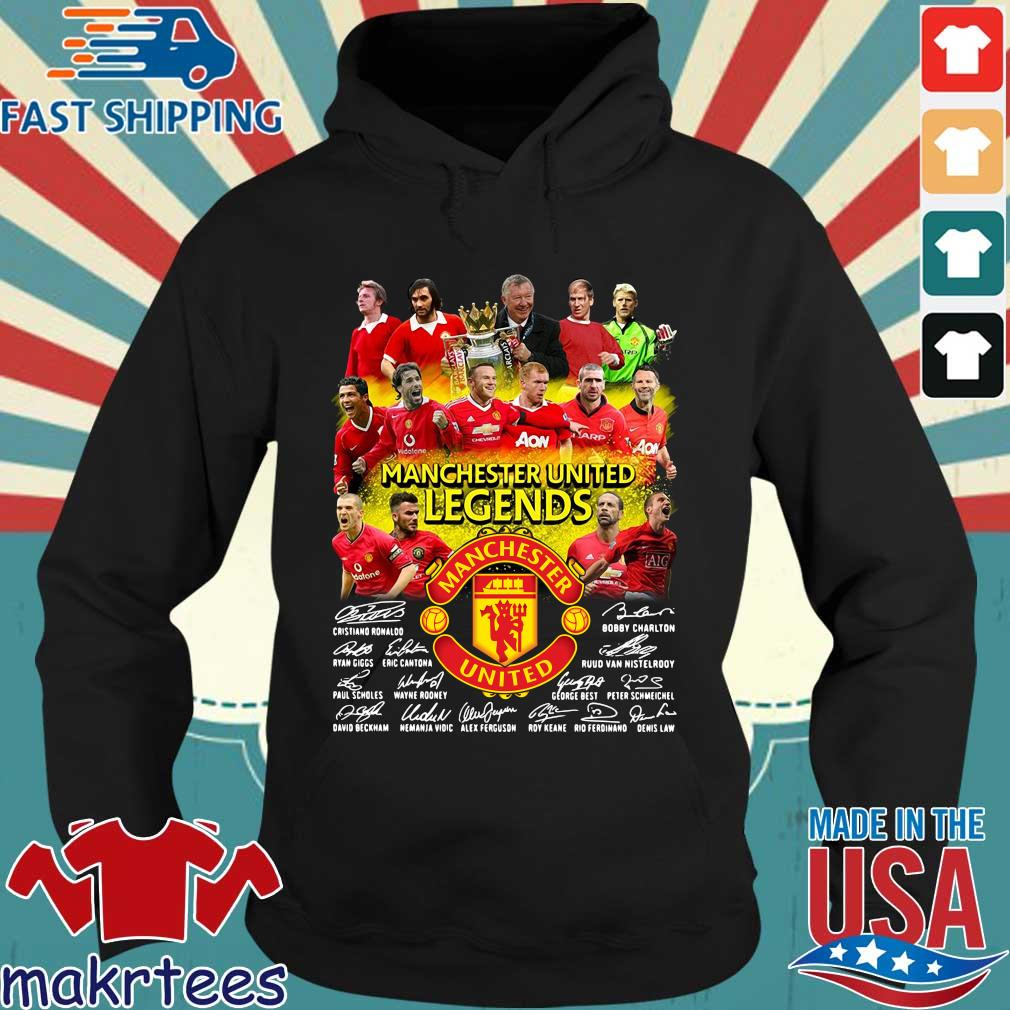 Manchester United Legends players signatures s Hoodie den