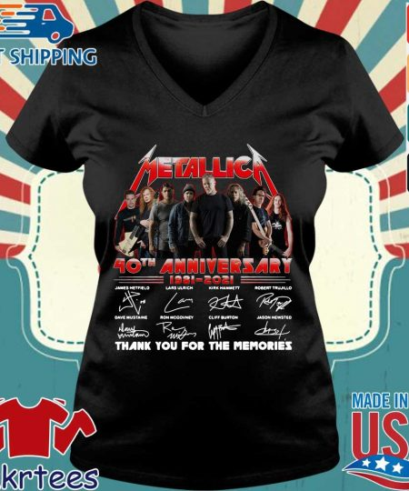 Metallica 40th anniversary thank you for the memories signatures s Ladies V-neck den