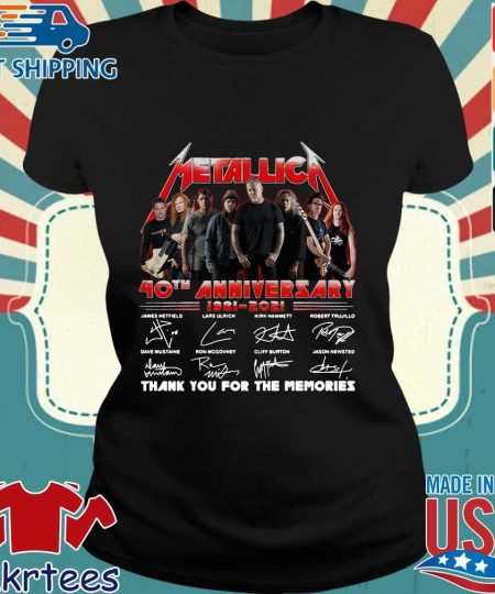 Metallica 40th anniversary thank you for the memories signatures s Ladies den