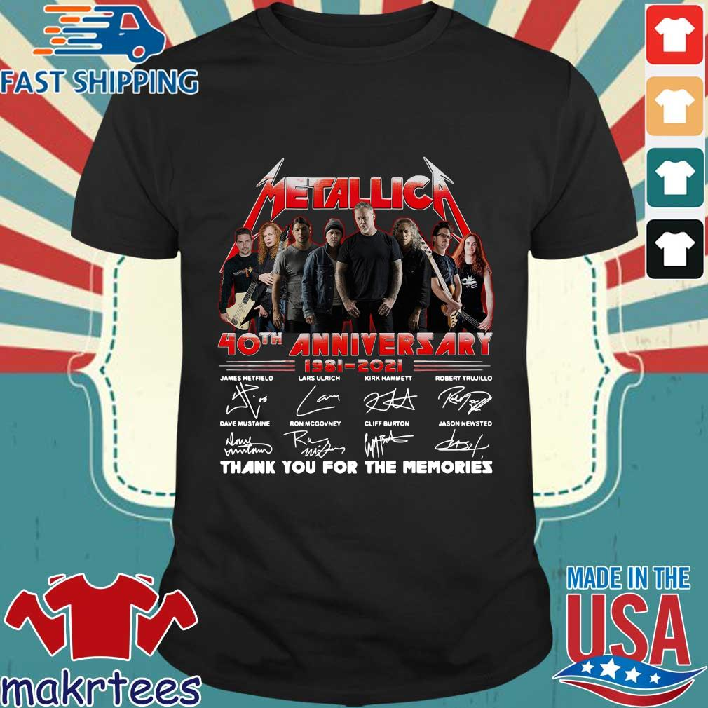 Metallica 40th anniversary thank you for the memories signatures s Shirt den