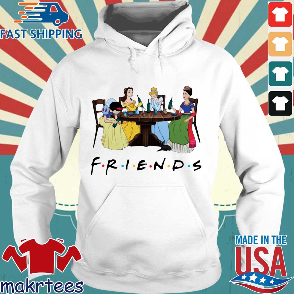 Official Frida Kahlo and Disney princesses drinking Friends TV show s Hoodie trang