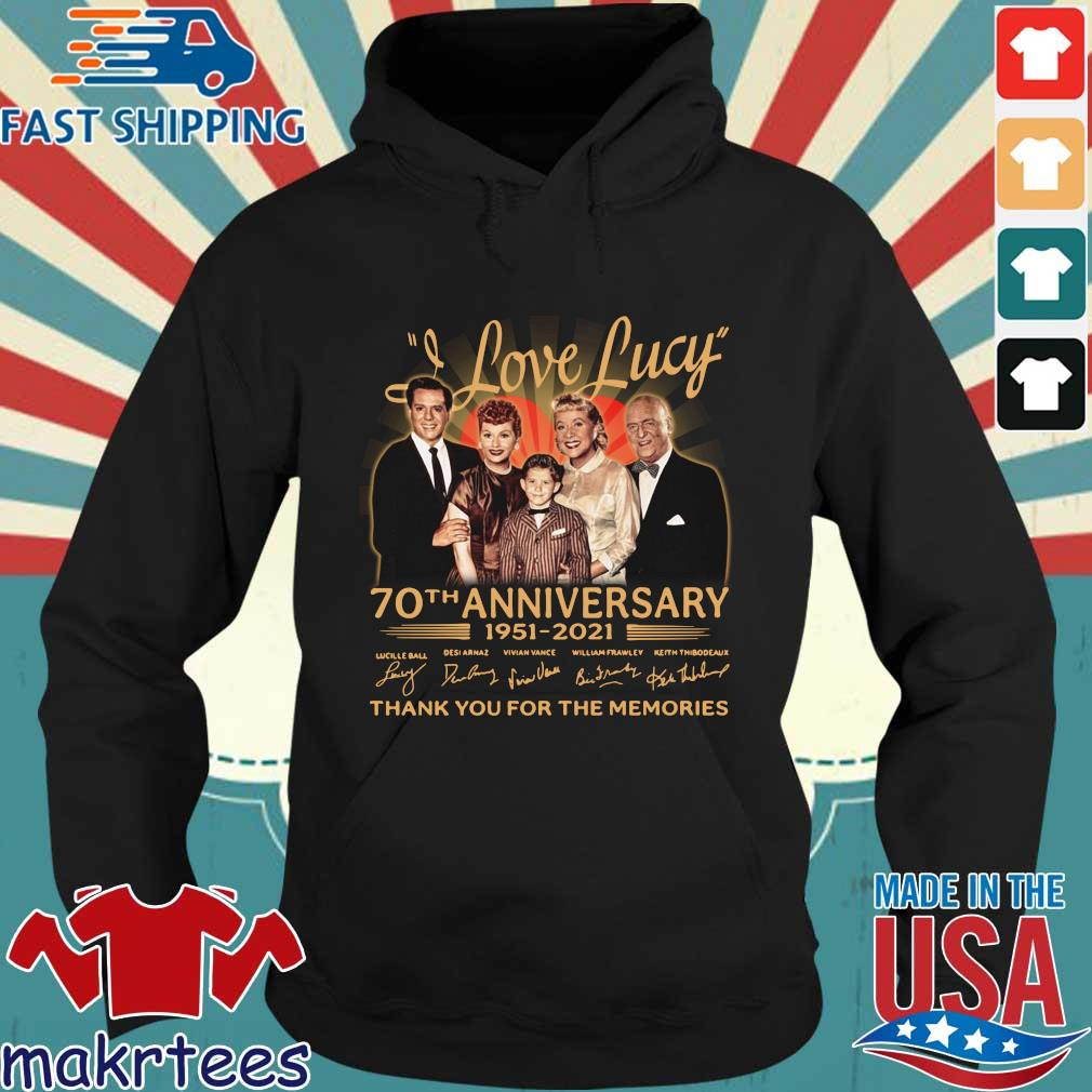 Official I Love Lucy 70th anniversary 1951-2021 thank you for the memories signatures s Hoodie den