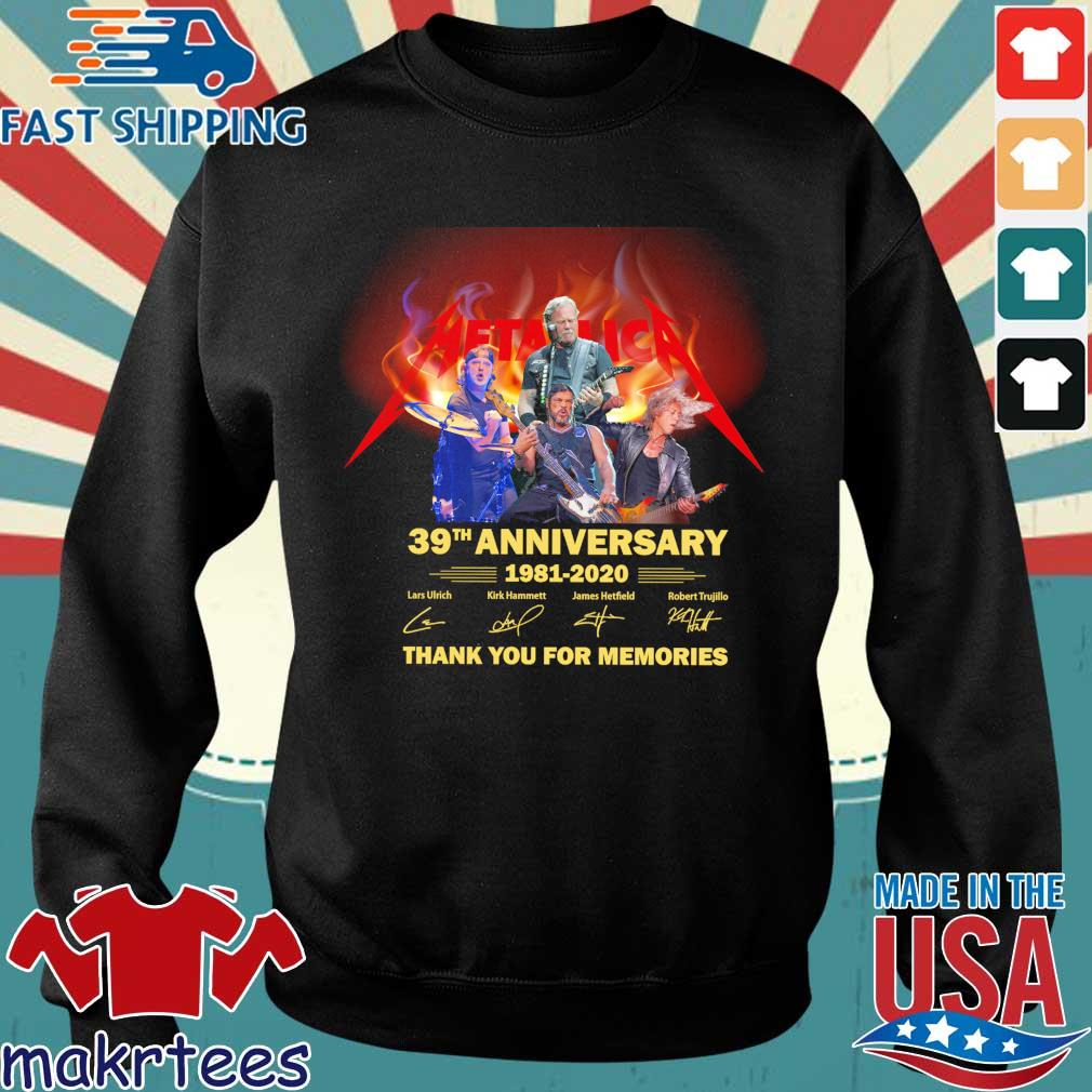 Official Metallica 39th anniversary 1981-2020 thank you for the memories signatures shirt