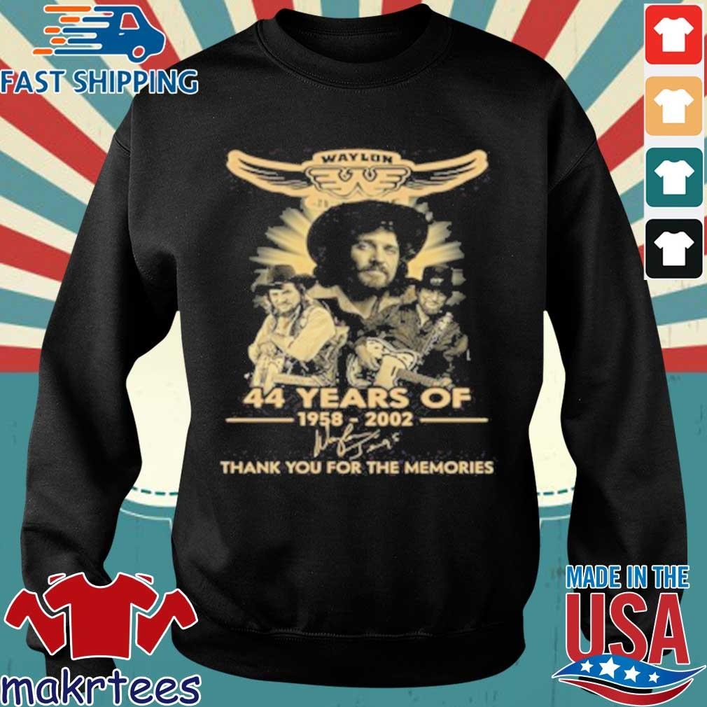 Official Waylon Jennings 44 Years Of 1958 2020 Signature Thank You For The Memories T-Shirt