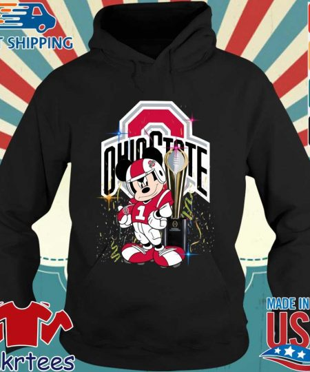 Ohio State Buckeyes Mickey Mouse National Championship trophy s Hoodie den