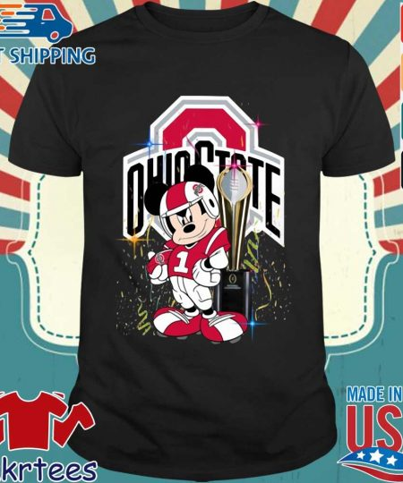Ohio State Buckeyes Mickey Mouse National Championship trophy s Shirt den