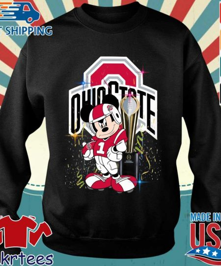 Ohio State Buckeyes Mickey Mouse National Championship trophy shirt