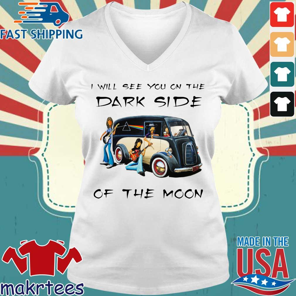 Pink Floyd I will see you on the dark side of the moon s Ladies V-neck trang