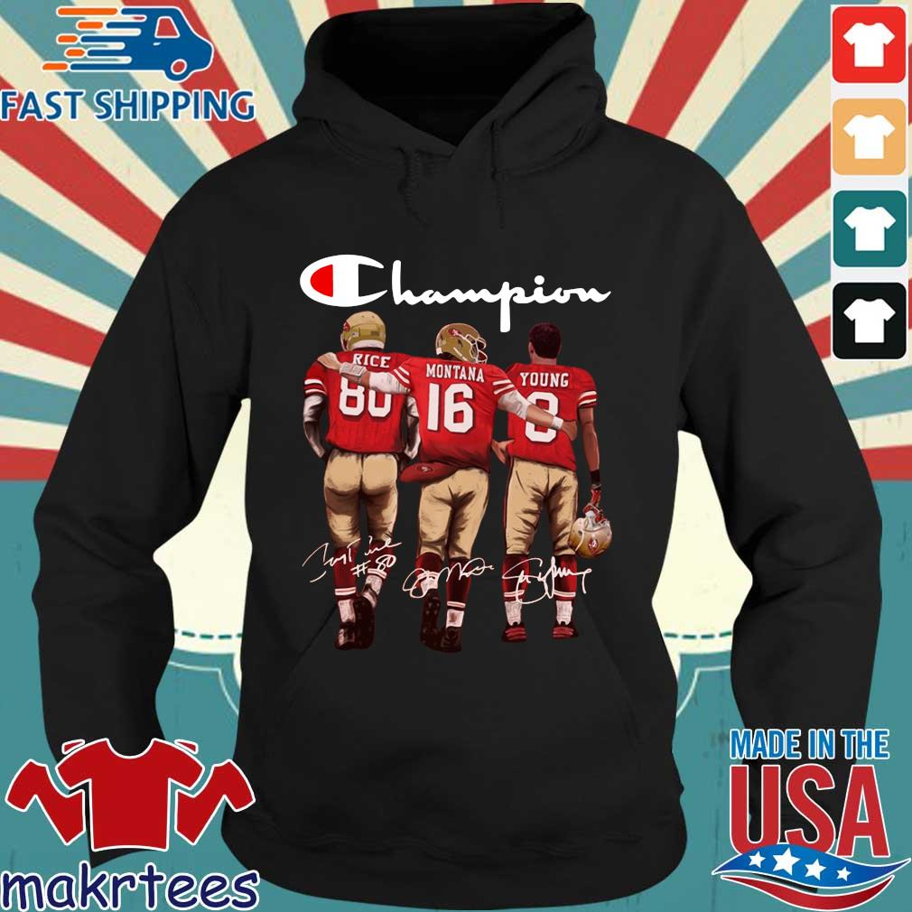 San Francisco 49ers Champion Rice Montana Young signatures s Hoodie den
