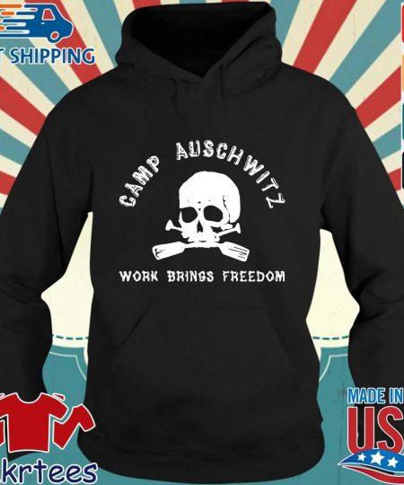 Skull camp auschwitz work brings freedom s Hoodie den