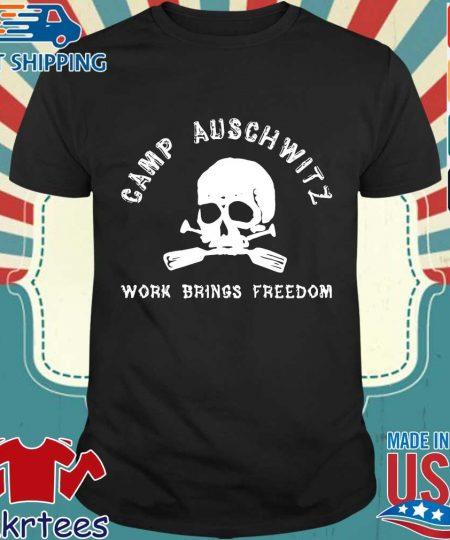 Skull camp auschwitz work brings freedom s Shirt den