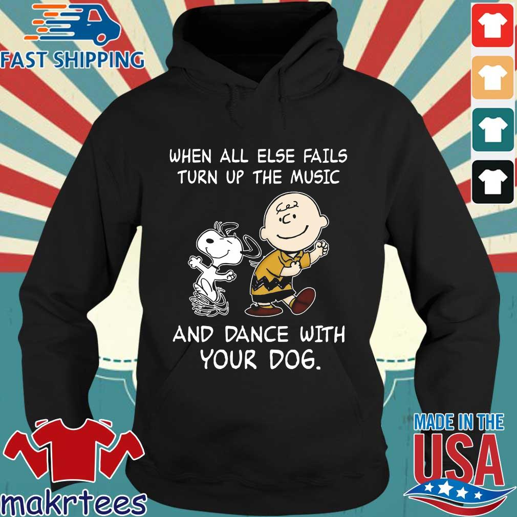 Snoopy and Charlie Brown when all else fails turn up the music and dance with your dog s Hoodie den