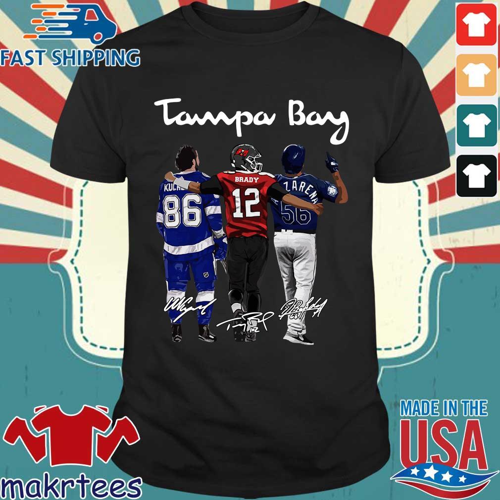 Tampa Bay Nikita Kucherov Brady Randy Arozarena signatures t-shirts
