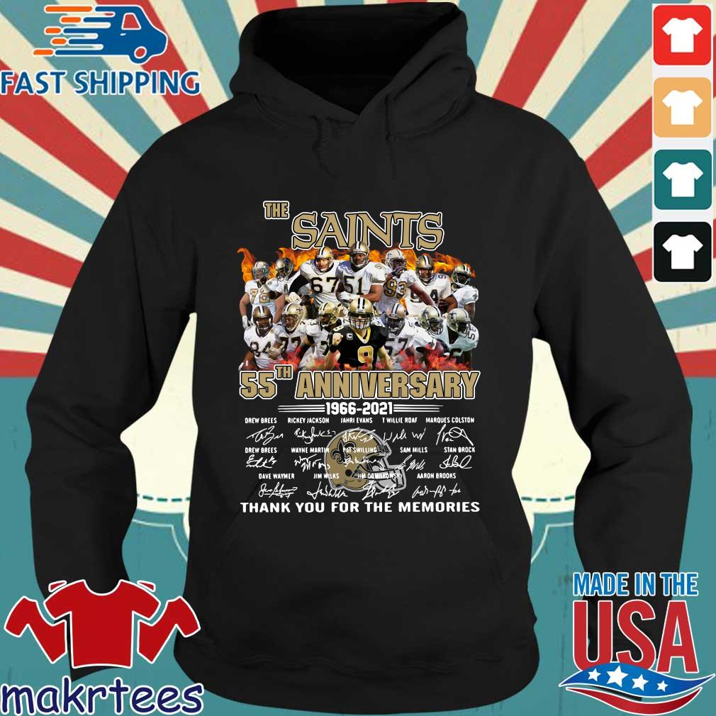 The New Orland Saints 55th anniversary 1966-2021 thank you for the memories signatures s Hoodie den