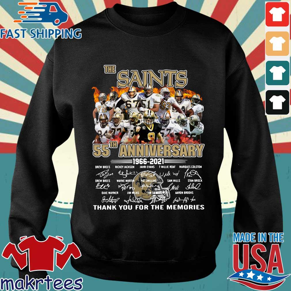 The New Orland Saints 55th anniversary 1966-2021 thank you for the memories signatures shirt